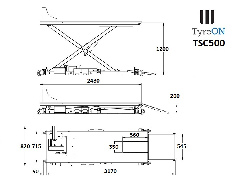 Tyreon tsc500 table l vatrice moto - Fabriquer une table elevatrice moto ...